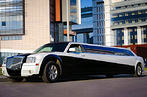 Крайслер 300с Лимузин черно-белый